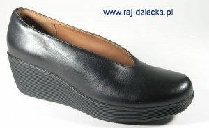 Clarks Claribel Flare Black Leather