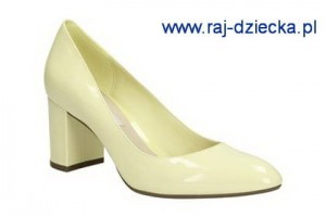 Clarks Blissful Cloud Pale Yellow Pat