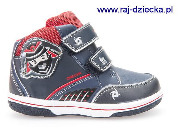 aab1557e Geox Buty dla dzieci B6437D 05485 C0735 Morski Czerwony Sklep Raj ...